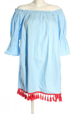 Chicwish Blouse Dress blue-red casual look