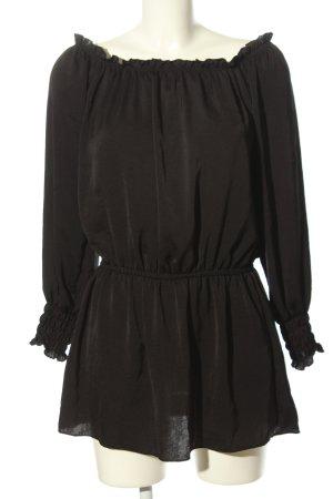 Chicwish Carmen Blouse black casual look