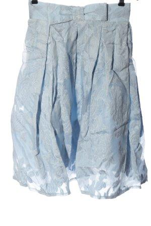 Chicwish Glockenrock blau Blumenmuster Casual-Look