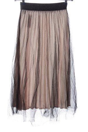 Chicwish Flared Skirt nude-black elegant