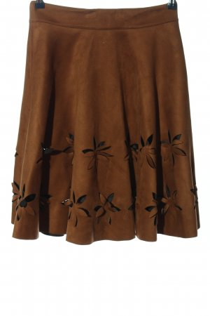 Chicwish Flared Skirt brown casual look