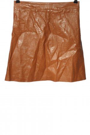 Chicwish Faux Leather Skirt light orange allover print casual look