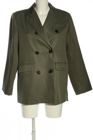 Chicwish Long Blazer khaki business style