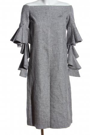 Chicwish Off-The-Shoulder Dress light grey flecked elegant