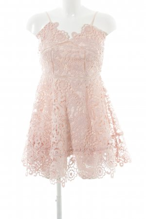 Chicwish Lace Dress pink party style