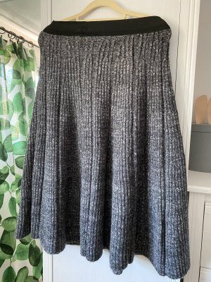 Chicwish Knitted Skirt anthracite-natural white