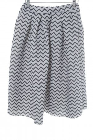Chicwish Tulip Skirt grey-black abstract pattern elegant