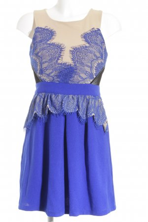 Chicwish Flounce Dress blue-nude elegant