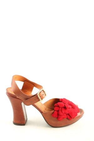 Chie Mihara High Heel Sandal brown-red elegant