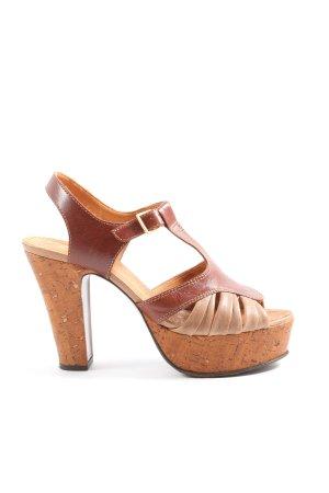 Chie Mihara Sandały na obcasie brązowy W stylu casual