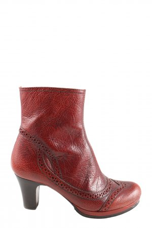 Chie Mihara Short Boots red flecked casual look