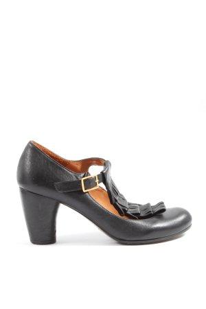 Chie Mihara Zapatos de tacón con barra en T negro look casual