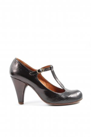 Chie Mihara Mary Jane Pumps schwarz-braun Business-Look