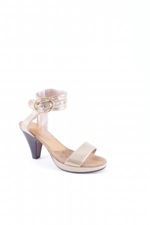 Chie Mihara Platform Pumps gold-colored extravagant style