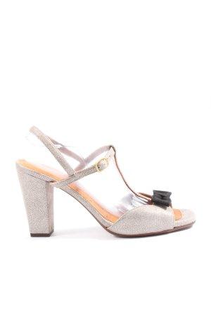 Chie Mihara Sandalen met bandjes en hoge hakken lichtgrijs zakelijke stijl