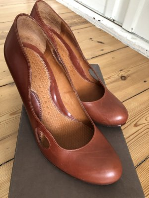 Chie Mihara High Heels cognac-coloured leather
