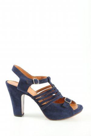 Chie Mihara Strapped High-Heeled Sandals blue casual look