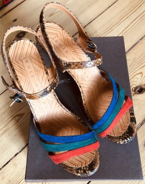 Chie Mihara Platform Sandals multicolored leather