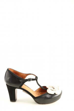 Chie Mihara T-Strap Pumps black-white business style