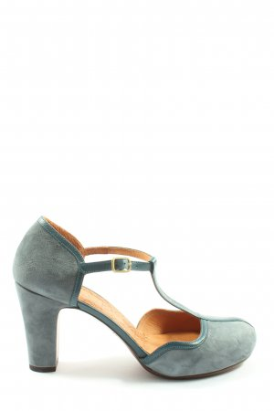 Chie Mihara T-Strap Sandals blue casual look