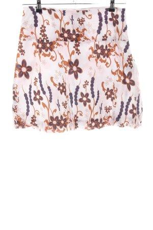 Chiemsee Falda globo marrón-crema estampado floral look casual