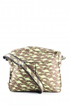 Chiemsee Borsa college marrone-verde stampa integrale stile casual