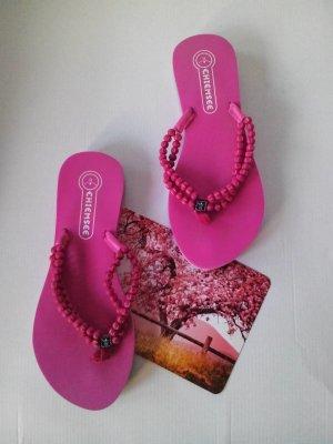 Chiemsee Flip Flops in pink, Kugel-Detail am Riemen, Größe 36, neu