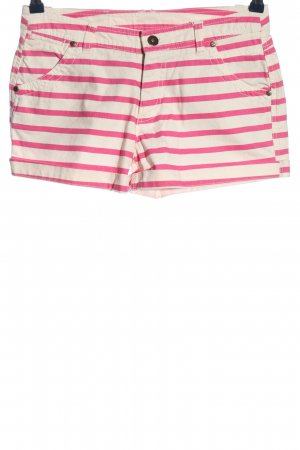 Chiemsee Denim Shorts natural white-pink striped pattern casual look