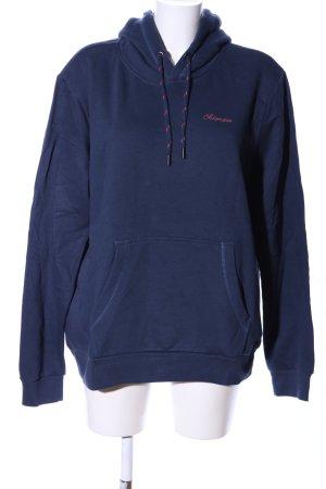 Chiemsee Kapuzensweatshirt blau-rot Motivdruck Casual-Look