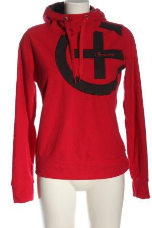 Chiemsee Hooded Sweatshirt red-black themed print casual look