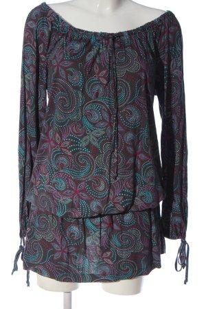 Chiemsee Sukienka z długim rękawem Abstrakcyjny wzór W stylu casual