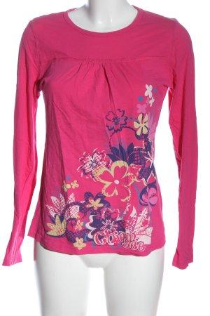 Chiemsee Koszulka z długim rękawem Wzór w kwiaty W stylu casual