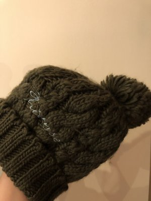 Chiemsee Cappello con pon pon cachi-grigio-verde