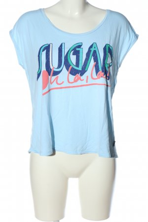 Chiemsee Print-Shirt blau Schriftzug gedruckt Casual-Look