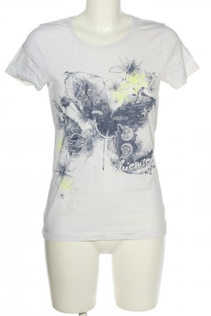 Chiemsee Print Shirt white-black themed print casual look