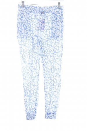 Chiemsee Jersey Pants blue-white abstract pattern casual look