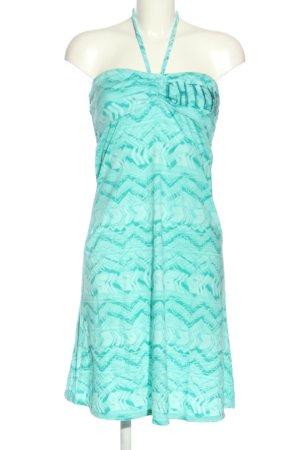 Chiemsee Strandkleid türkis grafisches Muster schlichter Stil