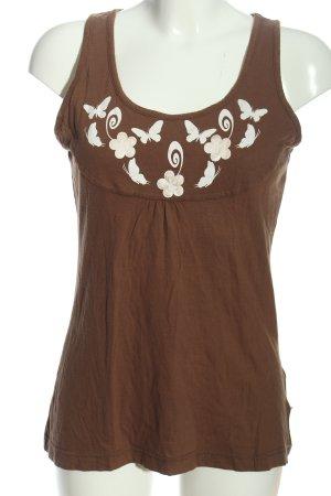 Chiemsee Top basic brązowy-biały Łączone wzory W stylu casual
