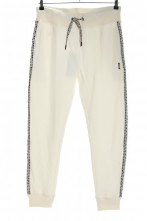 Chiemsee Sweathose weiß-schwarz abstraktes Muster Casual-Look