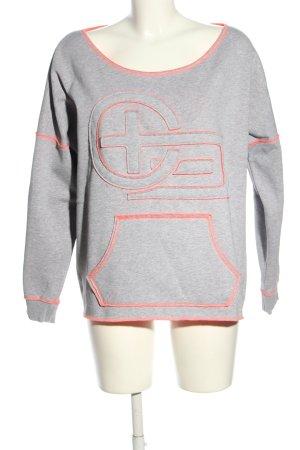 Chiemsee Sweatshirt hellgrau-pink meliert Casual-Look