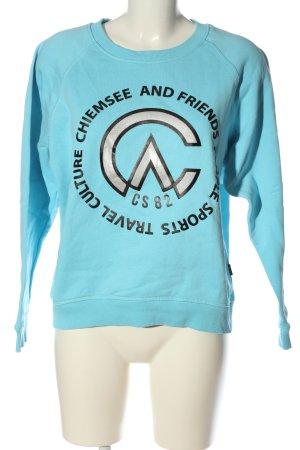 Chiemsee Sweatshirt blau-schwarz Motivdruck Casual-Look
