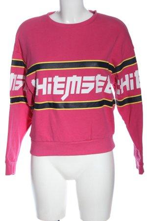 Chiemsee Sweatshirt Schriftzug gedruckt Casual-Look