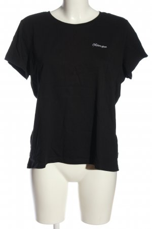 Chiemsee T-Shirt black-white printed lettering casual look
