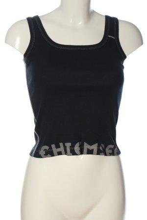 Chiemsee Top na ramiączkach biały-czarny Wydrukowane logo W stylu casual