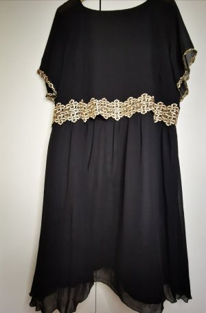 Little Misstress Chiffon Dress black-gold-colored