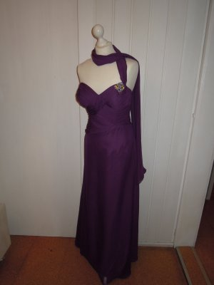 Chiffon Abendkleid Cocktailkleid Kleid Brosche Stola figurbetont 36 Abiball Hochzeit tiefer Rückenausschnitt Herzausschnitt Luxuar Magic Nights
