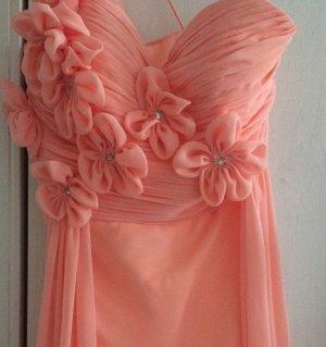 Chiffon Abendkleid mit Blütenträger