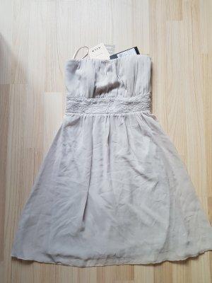 Chiffon Bandeau Kleid mit Stickerei