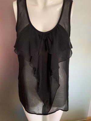 Chiffon Bluse mit Rüschen transparent Gr 38 40 M von Only