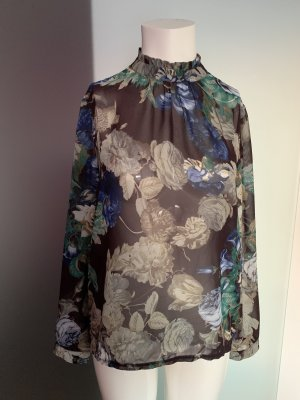 Chiffon Bluse Rosen Muster Gr 36 38 S von Sisters Point NA-KD